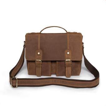 SAPA กระเป๋าสะพายข้างกระเป๋าถือ , กระเป๋าใส่เอกสารขนาด A4 , กระเป๋าหนังนูบัค SC08