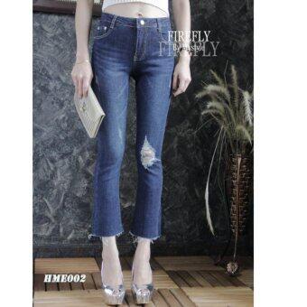FIREFLY กางเกงยีนส์ขายาว แต่งขาด HMEY002BLUE