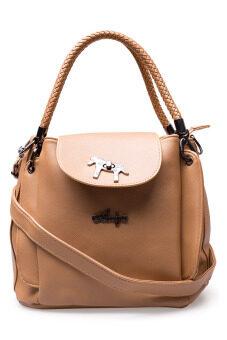 กระเป๋าถือ กระเป๋าสะพาย ผู้หญิง รหัส.โพนี่ แบ็ค แบลค (สีครีม