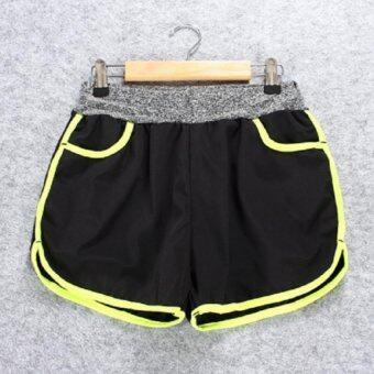 Dolly กางเกงออกกำลังกาย กางเกงขาสั้นสำหรับวิ่ง กางเกงขาสั้น2ชั้น (สีเขียว) รุ่นA464