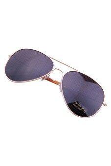 ไม้โลหะกระจกแว่นนักบินเพศเงินสีดำ
