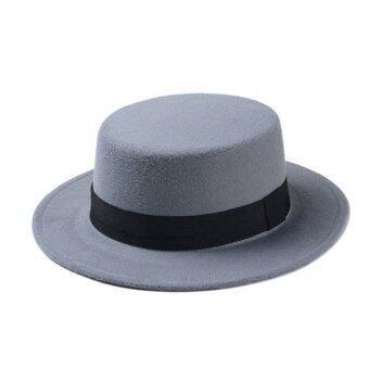 goodtimeshops หมวกปานามาแฟชั่น cake wool - grey