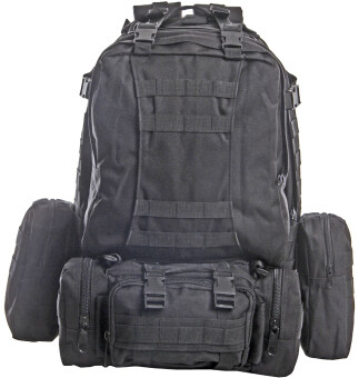 ความจุทหารทางยุทธวิธีทหารใหญ่กระเป๋าเป้ฟอร์ด (สีดำ)-ระหว่างประเทศ