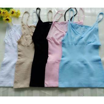 MUNAFIE slimming vest เสื้อกระชับสัดส่วน เก็บส่วนเกิน (สีดำ+เนื้อ+สีขาว+สีชมพู+สีฟ้า) - 5 ตัว