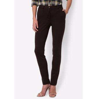 PRIMO LINEA กางเกงแสล็ค ผ้ายืด I-flex รุ่น 4JW45L2013 (สีน้ำตาล)