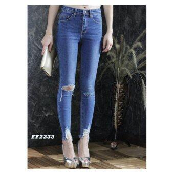 platinum fashion กางเกงยีนส์ขายาว สินค้านำเข้า เนื้อผ้า สีสวย รุ่นPFF2233
