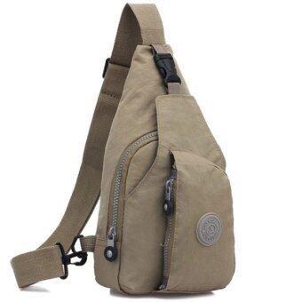 RICHCOCO กระเป๋าเป้ สายเดี่ยว Nylon leisure Backpack K03_02-Brown