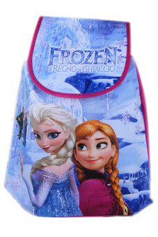 Fancyqube Chic Frozen Kids Princess Elsa Anna Drawstring Backpack School Bag Nice Gift Multicolor