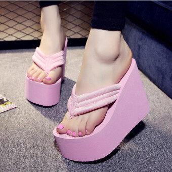 รองเท้าส้นสูงของผู้หญิงเซ็กซี่สวมรองเท้าแตะรองเท้าแพลตฟอร์ม Antiskid บีชกอล์ฟ