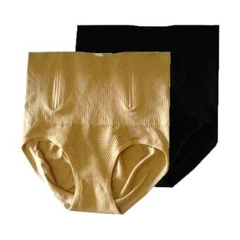 Miracle Bra กางเกงใน กระชับสัดส่วน ลดพุง เก็บหน้าท้อง (สีเนื้อ 1+สีดำ 1) – 2 ตัว