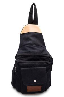DM กระเป๋าสะพายพาดลำตัว Canvas KCAJ (Black)