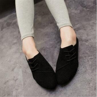 แฟชั่นสตรีรองเท้าลำลองออกซฟอร์ดคลาสสิก Loafers รองเท้าส้นเตี้ยแฟลต