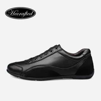 Harga Size 36~48 Full Grain Leather Men Shoes Genuine Leather Top quality Origina Autumn Casual Men Shoes