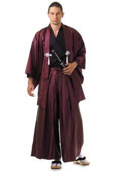 Princess of asia ชุดฮากามะพร้อมเสื้อคลุมฮาโอริ (สีดำ-เทาฟ้า)