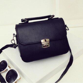 Open กระเป๋าแฟชั่นสตรี ใบจิ๋ว สลักล็อค รุ่น 306 (สีดำ) มีหูหิ้วพร้อมสาย