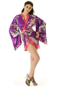 Princess of asia กิโมโนสั้นผู้หญิง กิโมโนโลลิต้า กิโมโนเซ็กซี่ (สีม่วง)