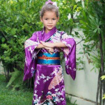 Princess of Asia ชุดกิโมโนญี่ปุ่นเด็ก (สีม่วง)