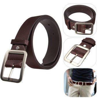 Harga Autoleader Fashion Men's WaistBand Leather Classic Casual Dress Pin Belt Waist Strap Belts Coffee (Intl)