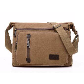 MATTEO กระเป๋าสะพายแคนวาส กระเป๋าเอกสาร Code 154ZX(สีกาแฟ)