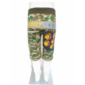 กางเกงแฟชั่นเด็ก 3 ส่วน ลายทหาร