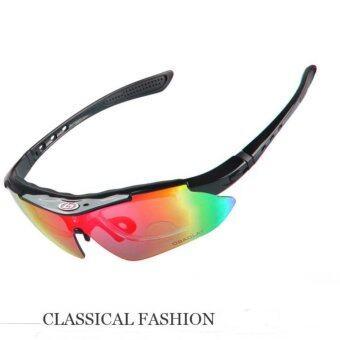 แว่นกันแดด Polarized OBAOLAY SPORT SP0868 (5 เลนส์)แว่นปั่นจักรยาน, กอล์ฟ Black