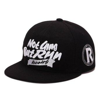 Harga Men and women running men hip hop hat sports cap fashion cap(Black) - intl