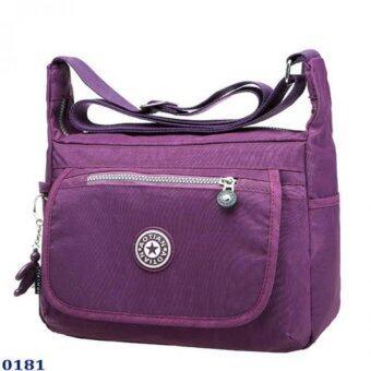 Marino กระเป๋า กระเป๋าสะพาย กระเป๋าสะพายผู้หญิงผ้าไนล่อนกันน้ำ No.0181 - Purple