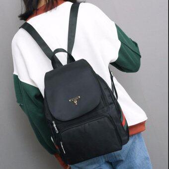 Little Bag กระเป๋าเป้สะพายหลัง กระเป๋าเป้เกาหลี กระเป๋าสะพายหลังผู้หญิง backpack women รุ่น LP-115 (สีดำ)