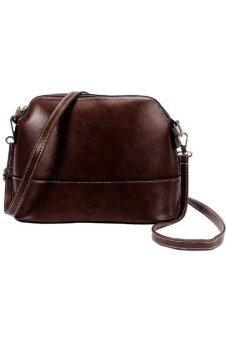 กระเป๋าถือกระเป๋าสะพายกระเป๋านักเรียนหญิงสาวส่งกระเป๋ากระสุนตายกุ๊ย ๆ สีน้ำตาล