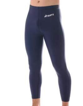 FITSUITS กางเกงขายาว กระชับกล้ามเนื้อ รัดกล้ามเนื้อ SPORTS COMPRESSION ชุดกีฬา ออกกำลังกาย ว่ายน้ำ วิ่ง ฟิตเนส ฟุตบอล รุ่น ORIGINAL FS-T001 สีกรมท่า NAVY BLUE