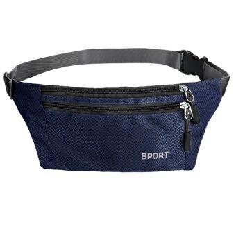 ซองกันน้ำสำหรับบุรุษเข็มขัดกระเป๋าวิ่งกีฬาเดินป่าตั้งแคมป์กลางแจ้งเอวซิปกระเป๋า