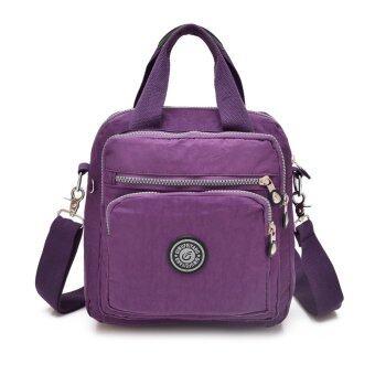 นิวแฟชั่นผู้หญิงกระเป๋าถือไนลอนมีซิปกระเป๋ากันน้ำไหล่แข็งแรงมากกระเป๋าเป้กระเป๋า