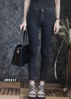 Platinum Fashion กางเกงยีนส์ขายาวเอวสูง ทรงสกินนี่ รุ่นFF2217