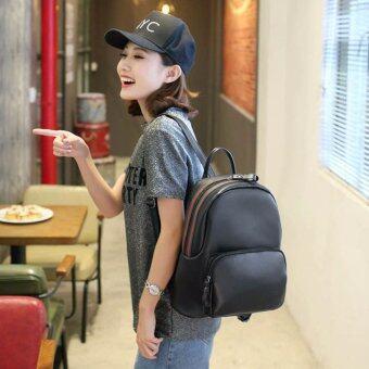Little Bag กระเป๋าเป้เกาหลี กระเป๋าสะพายหลังผู้หญิง กระเป๋าแฟชั่น backpack women รุ่น LP-145(สีดำ)