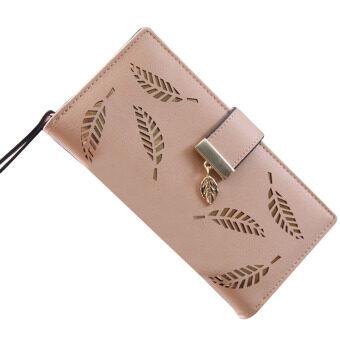 ลาวีออกจากกระเป๋าสตางค์เงินสดกลวงหญิงสาวถือเงินปูพื้นผิว (แอปริคอท)