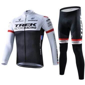Cbike ชุดปั่นจักรยาน Trek factory แขนยาวขายาว ชุดโปรทีมจักรยาน ชุดขี่จักรยาน
