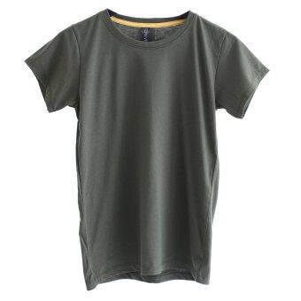Chahom เสื้อยืดคอกลม (สีเขียวขี้ม้า)