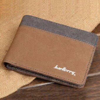 Matteo กระเป๋าสตางค์แคนวาส กระเป๋าเงิน Baellerry Horizontal ( สีกาแฟ )