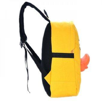 Bag Fashion กระเป๋าเป๋แฟชั่นสะพายหลัง ลายเป็ด สีเหลือง รุ่น012 (image 3)