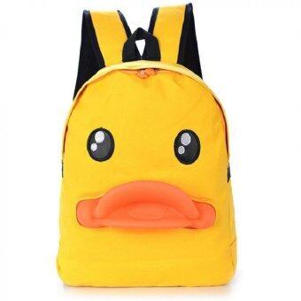 Bag Fashion กระเป๋าเป๋แฟชั่นสะพายหลัง ลายเป็ด สีเหลือง รุ่น012 (image 0)