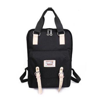 Marverlous กระเป๋า กระเป๋าเป้ กระเป๋าเป้สะพายหลัง NEW Fashion Backpack TTQ-สีดำ