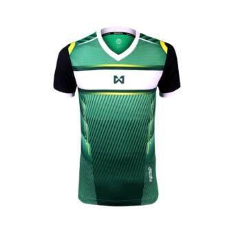 WARRIX SPORT เสื้อฟุตบอลพิมพ์ลาย WA-1541 (สีเขียว)