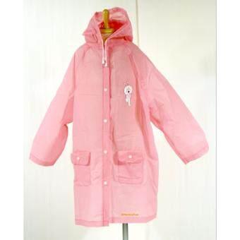 Monkey Toys เสื้อกันฝนเด็ก Line Friends Rain Coat สีชมพู EVA
