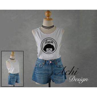 Daria sideboob women shirt tank top เสื้อกล้าม แขนกุด แหวกรักแร้ ลาย Daria สุดเก๋ ชิคๆ สวมใส่สวย ในลุค สาวเซอร์ๆ