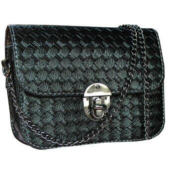 Peimm Modello กระเป๋าสะพาย แฟชั่นเกาหลี (สีดำ)