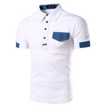 คนเดือนร้อนคาถาใหม่สีเสื้อแขนสั้นเสื้อยืดเกาหลีเสื้อยืดแฟชั่นผอมขาว