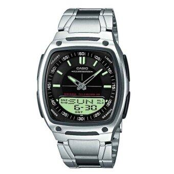 Casio Standard นาฬิกาข้อมือผู้ชาย สายแสตนเลส รุ่น AW81D-1A (Silver)
