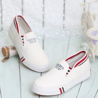 ESTHER รองเท้าผ้าใบผู้หญิง รุ่น GJ18-White