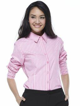 Stephanie เสื้อเชิ้ตแขนยาว รุ่น OC5C PI - สีชมพู