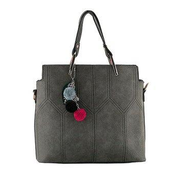 กระเป๋าถือ กระเป๋าสะพาย ผู้หญิง รหัส.8833 (สีเทา)
